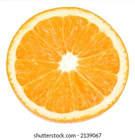 orange closeup on white background with path