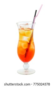 orange cocktail with alcohol