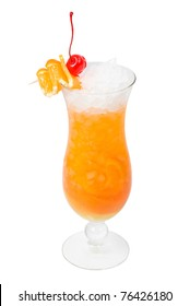 Orange cocktail  isolated on white background,clipping Path
