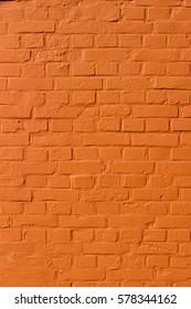 orange colored brick wall texture, vertical