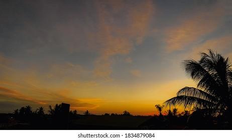 The Sun's Orange colored Horizon