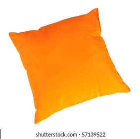 Orange cushion. Isolated