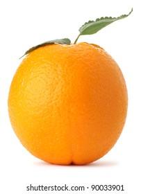 Orange. A detailed photo of exotic fruit on a white background