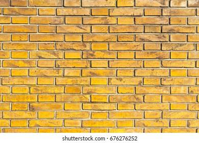 Orange Dirty Brick Wall in Italian City Street