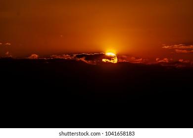 Orange Dusk Landscape