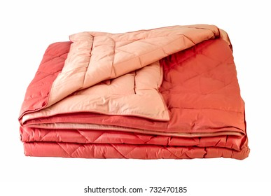 Orange Duvet isolated, clipping path.
