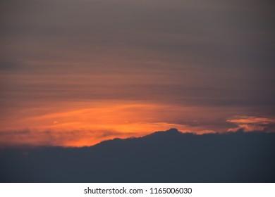 orange evening sky