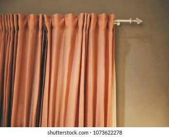 Orange Fabric Cloth Curtain for Room Decoration