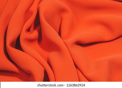 orange fabric texture background, wavy fabric color luxury satin fabric texture