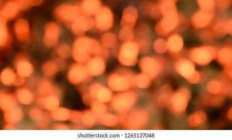 Orange fire bokeh background.