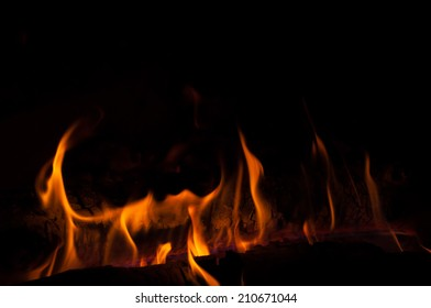 orange fire flames at night