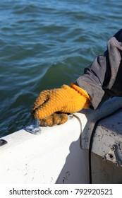 Orange Fishing Glove
