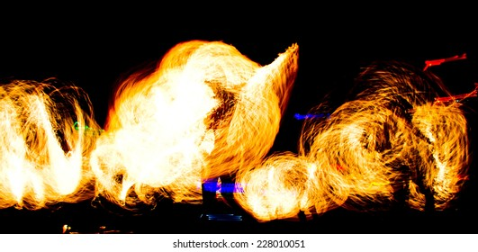 Orange Flames Burning Man