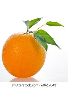 Orange fresh juice on glass