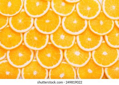 Orange Fruit Background. Summer Oranges. Healthy Food Concept