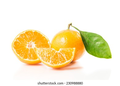 Orange fruit isolated on over white background