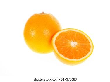 orange fruit isolated on write background