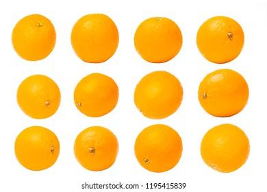 Orange fruit on white background .