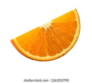 Orange fruit slice isolate on white With background With Clipping Path.