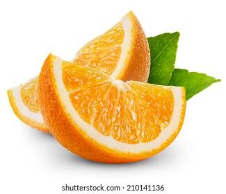 orange fruit slice isolated  - Shutterstock ID 210141136