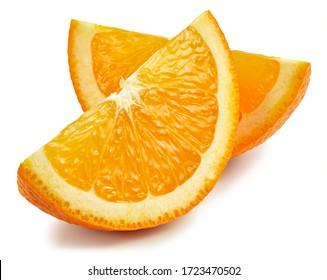 Orange fruit. Orange slice isolated on white background. Orange with clipping path. - Shutterstock ID 1723470502