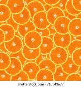Orange fruit. Orange slices orange background