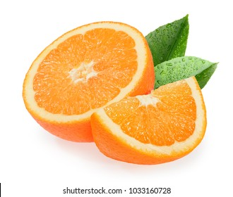 Orange fruits isolated on white background