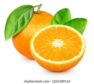 Orange fruits isolated on white background. Orange Fruit