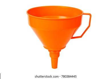 Orange Funnel on bright background