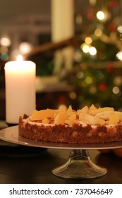 Orange and gingerbread cheesecake.