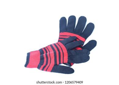 Orange glove placed on a white background.