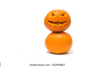 Orange of halloween with white background