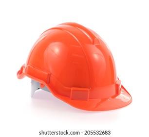 orange helmet isolated on a white background.