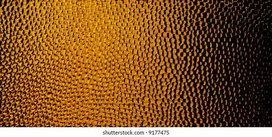 Orange honeycomb-like pattern