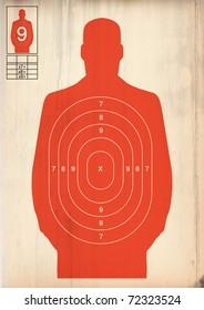 Orange human target
