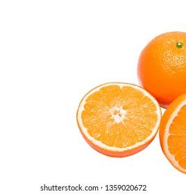 Orange. Isolated on White Background without Shadow.