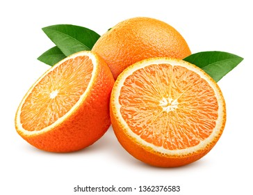 orange isolated on white background, clipping path, full depth of field