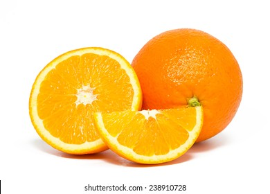 Orange isolated on white background. Studio shot.