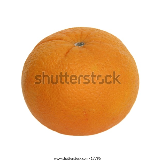 An orange isolated on white with clipping path.