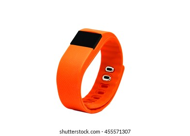 Orange isolated pedometer