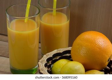 Orange juice . citrus .