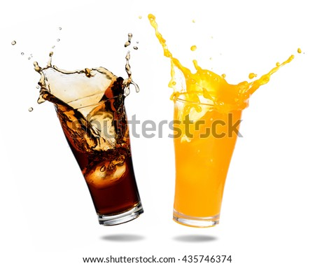 Orange juice and cola