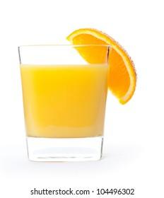 Orange Juice glass isolated on white background