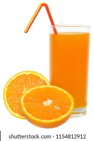 Orange juice isolated on a white background.