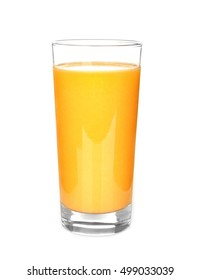Orange juice, isolated on white