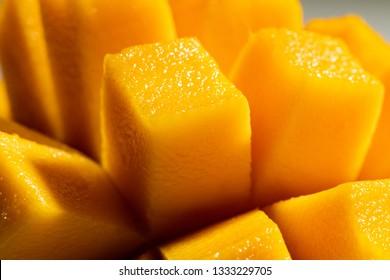 Orange juice slices of mango