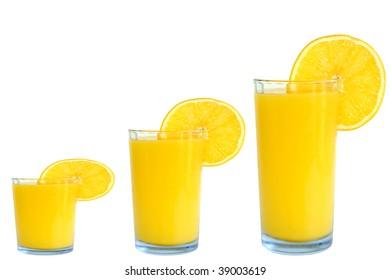 orange juice small medium large size