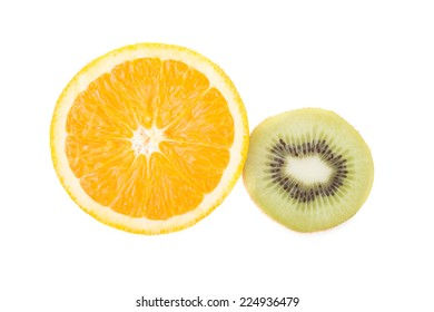 orange and kiwi fruit