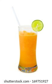 orange with lime smoothie, Clipping path