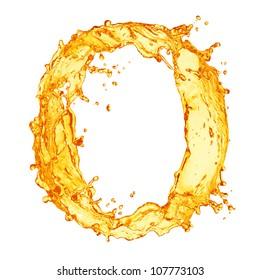 Orange liquid splash alphabet